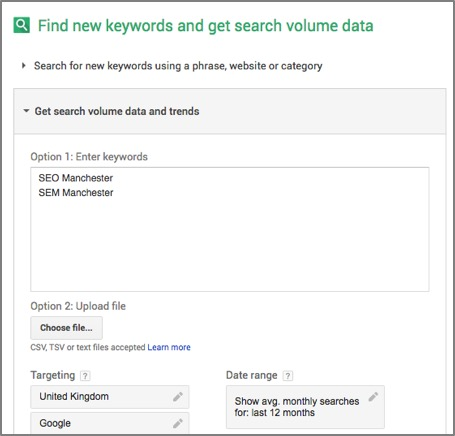Get search volume data