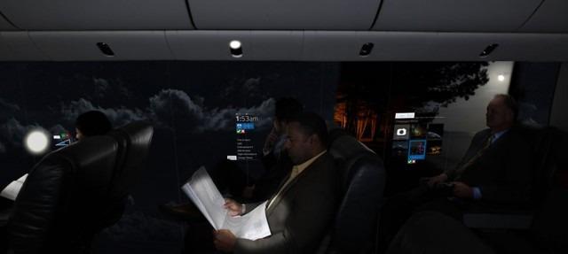 Windowless Plane - OLED Screens