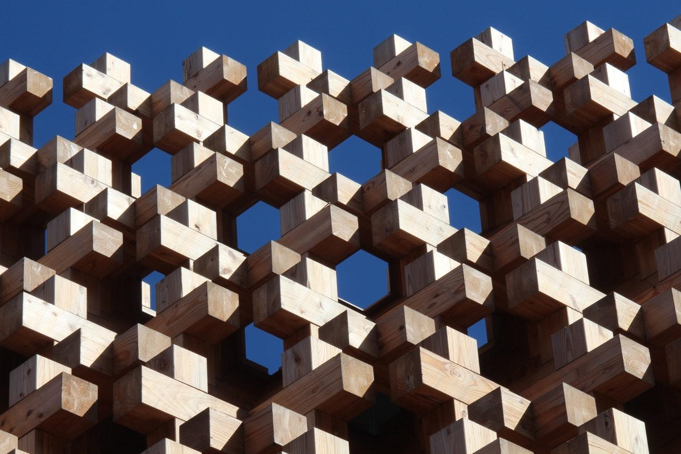 Wooden blocks representing links